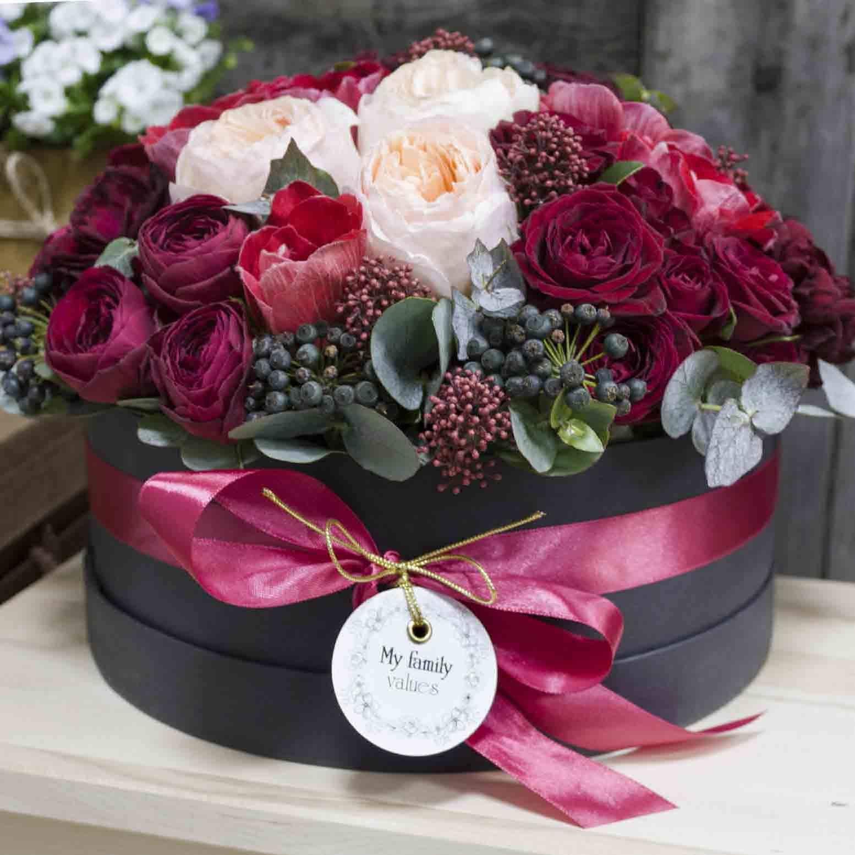 Подарками имениннику, картинка с днем рождения коробка цветов