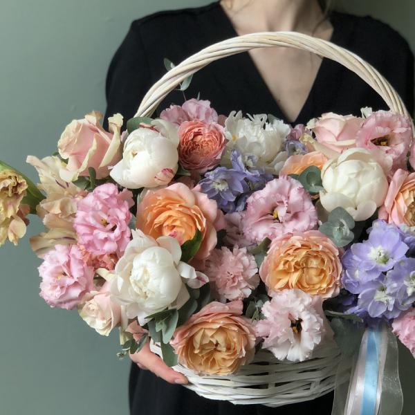 """Корзина с цветами """"Цветочное суфле"""" №2004"""