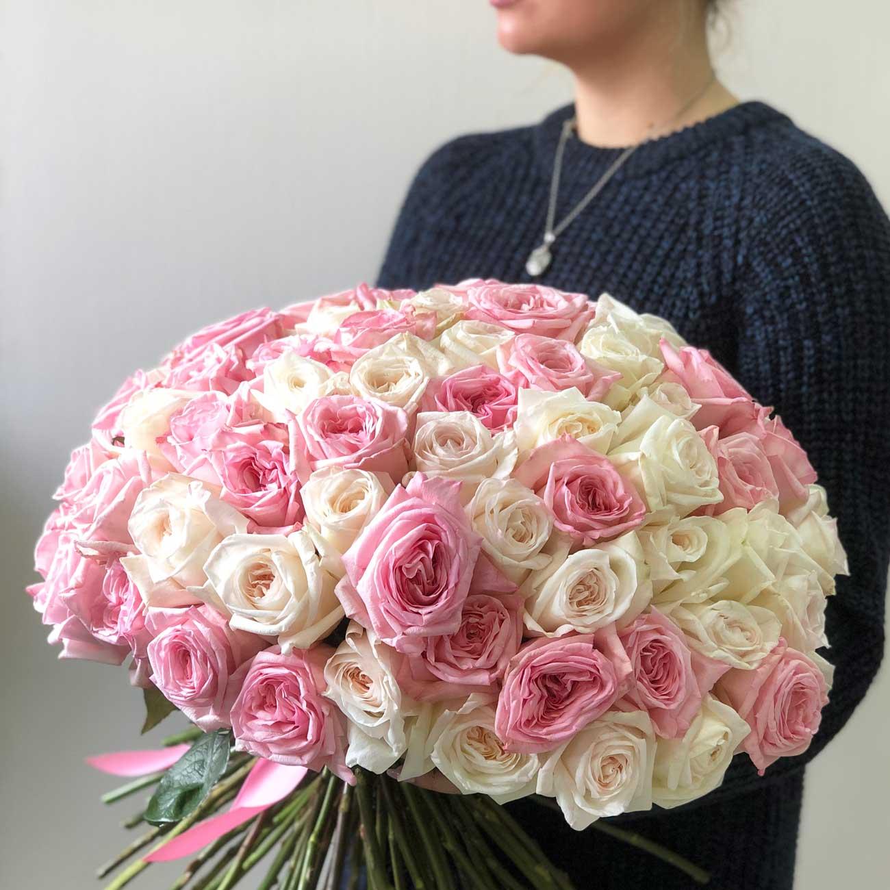 Ароматные розы Пинк Охара и Вайт Охара №0887