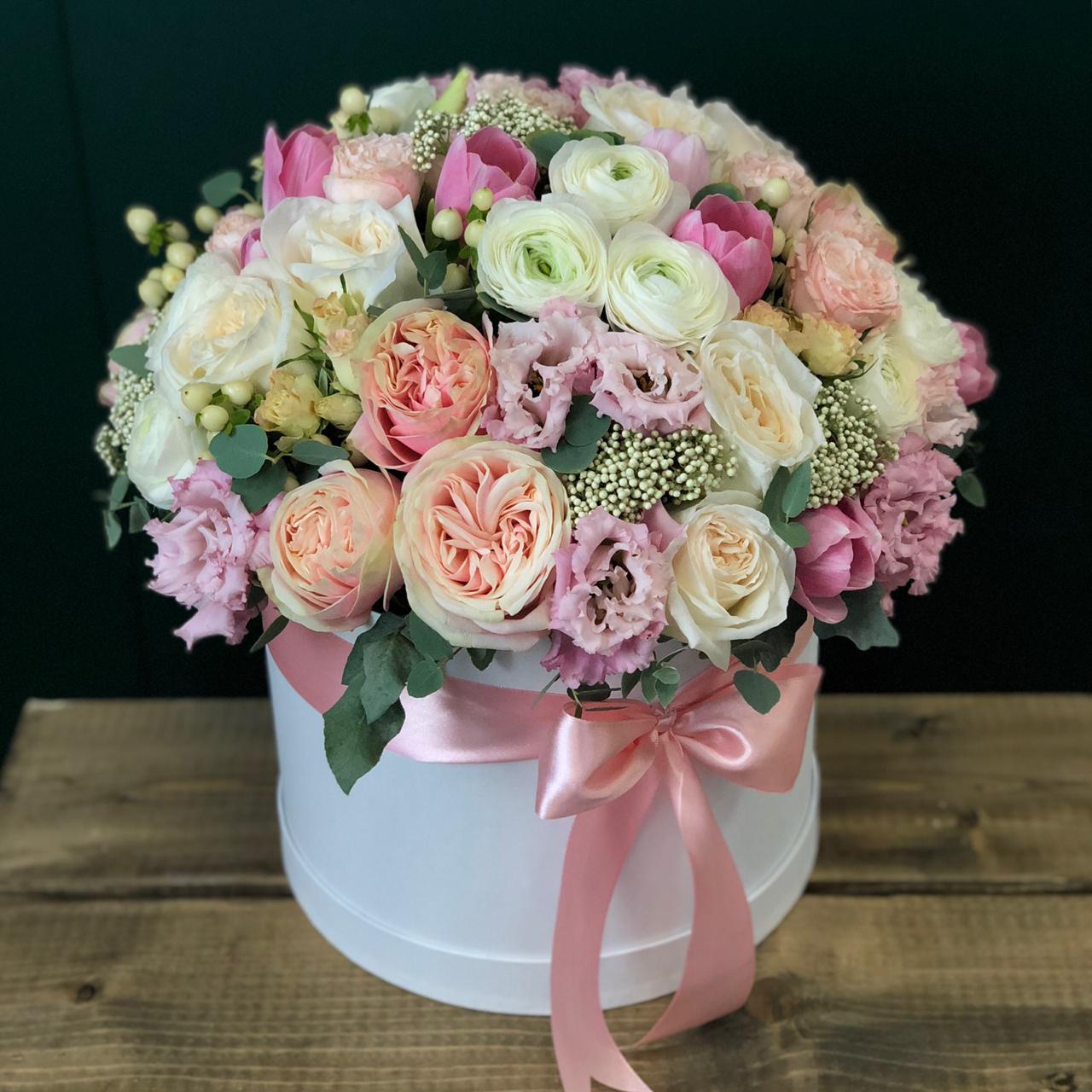 Цветы в коробке L №5001
