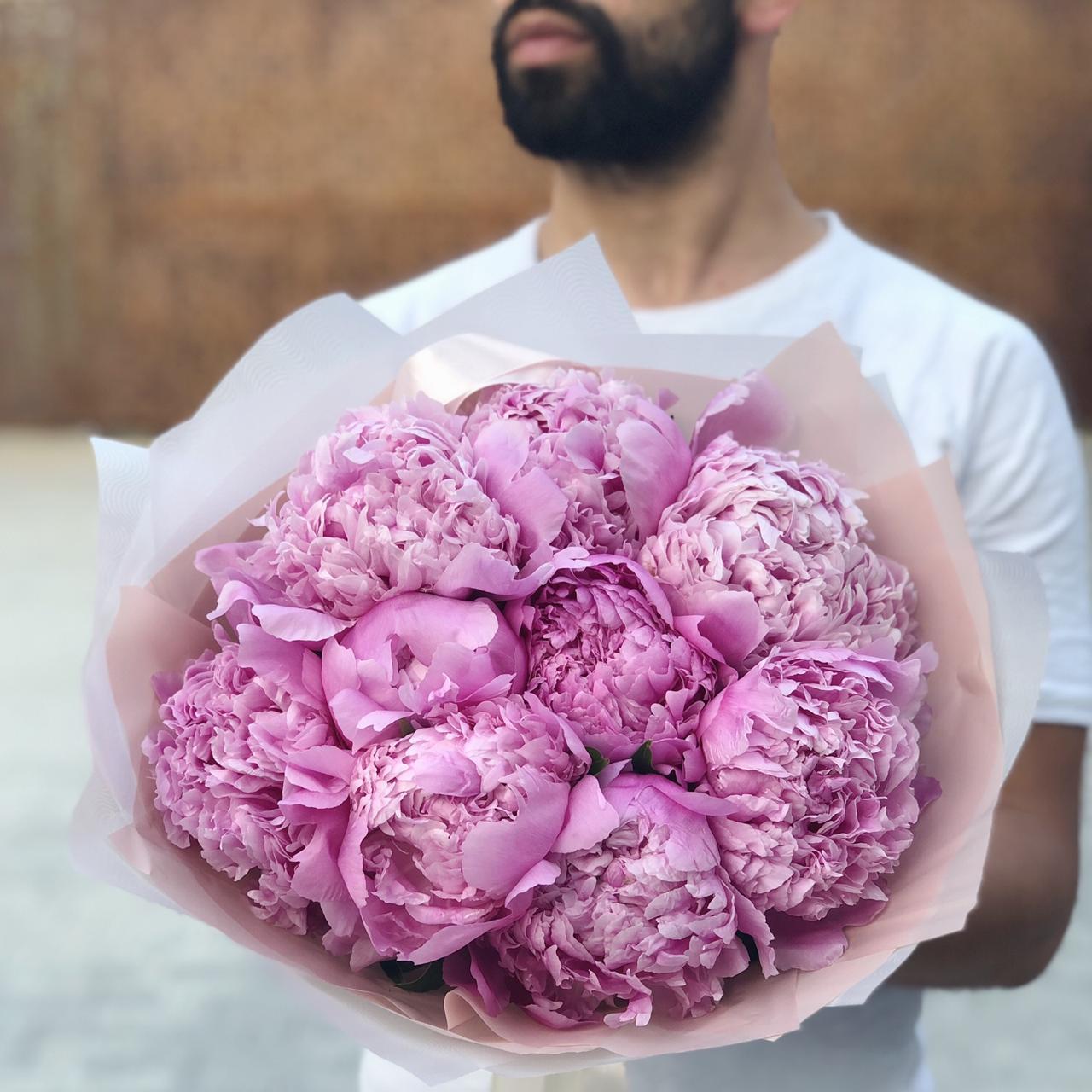 Букет розовых пионов Джули Эль №0999