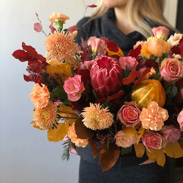 Цветы в коробке М №0551