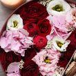 Цветы и макаруны M (⌀20 см), №0158