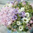 Цветы в коробке L (⌀25 см), №0571