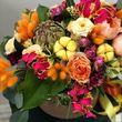 Цветы в коробке М (⌀20 см), №0610