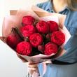 Пионовидные кустовые розы Ред Пиано №0970