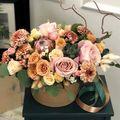 Цветы в коробке М (⌀20 см), №0611
