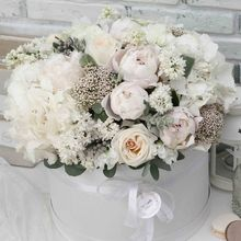 Цветы в коробке XL (⌀30 см), №0578