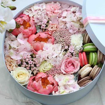 Цветы и макаруны 3XL (⌀36 см), №0168