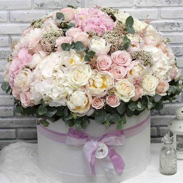Цветы в коробке King Size (⌀43 см), №0581