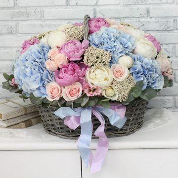 Корзина с цветами №2003