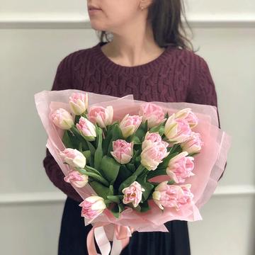 Букет розовых тюльпанов №0981