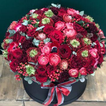 Цветы в коробке King Size (⌀43 см), №5019