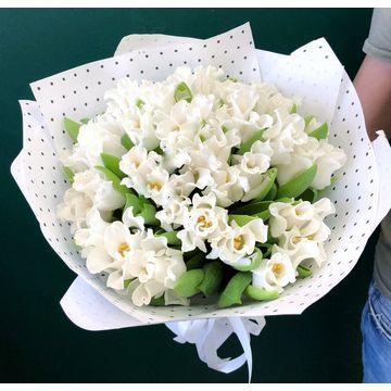 Букет из белых тюльпанов №5018