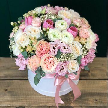 Цветы в коробке L (25 см), №5001