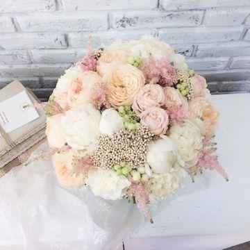"""Букет невесты """"Айвори"""", №7003"""