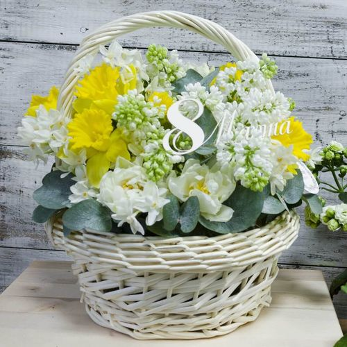 Цветы в корзине №2013