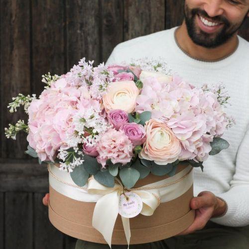 Цветы в коробке XL (30 см), №0541