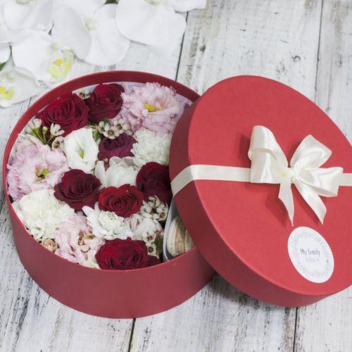 Цветы и макаруны M (⌀20 см), №0154