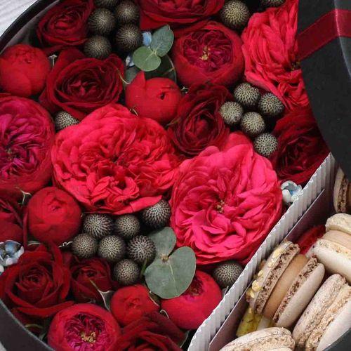 Цветы и макаруны M (⌀20 см), №0160