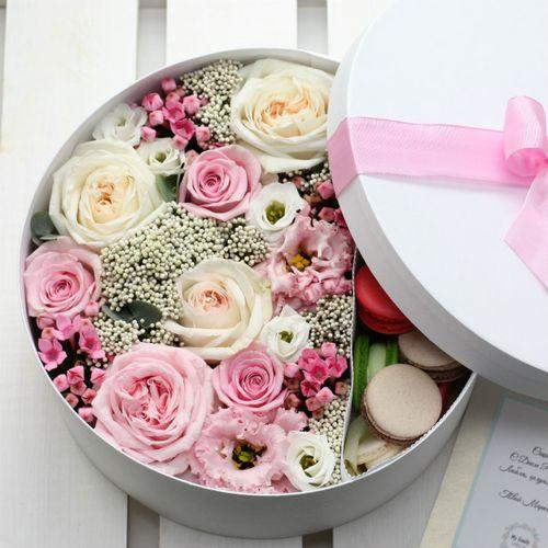 Цветы и макаруны XL (⌀30 см), №0180