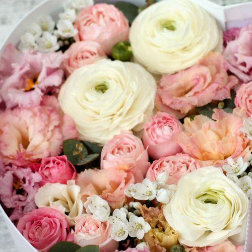 Цветы и макаруны ХL (30х25 см), №0182