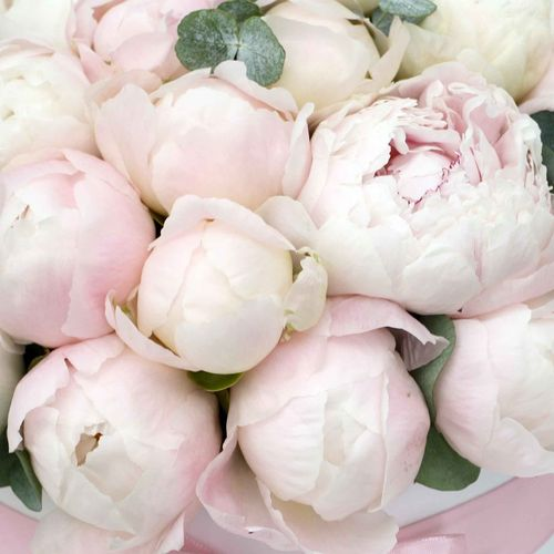 Цветы в коробке L (25 см), №0582