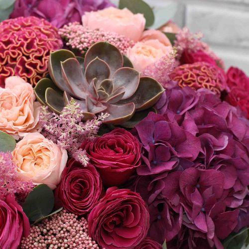 Цветы в коробке XL (⌀30 см), №0586