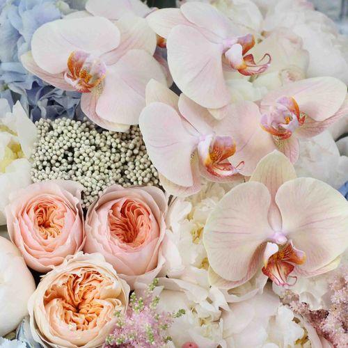 Цветы в коробке King Size (⌀55 см), №0587