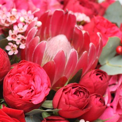 Цветы в коробке XL (⌀30 см), №0591