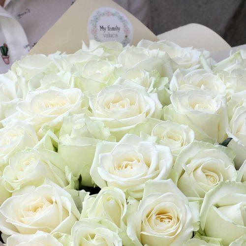 Букет из роз Аваланж №0932