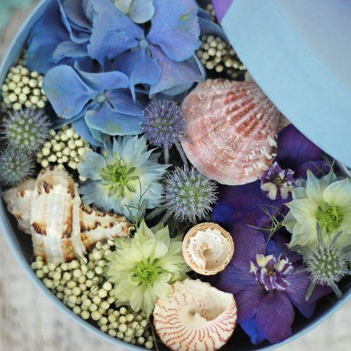Цветы и макаруны S (⌀17 см), №0119