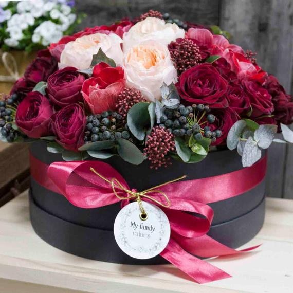 Цветы в коробке L №0530