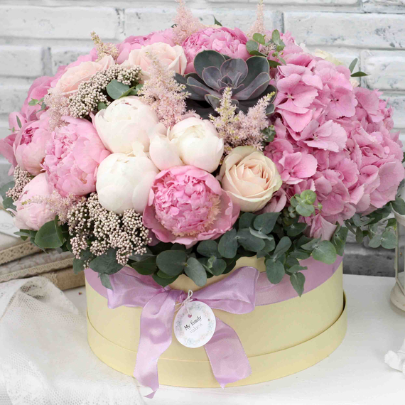 Цветы в коробке XL №0585