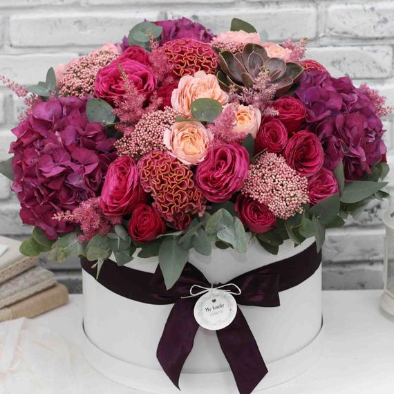 Цветы в коробке XL №0586