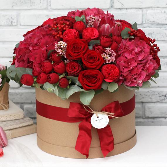 Цветы в коробке XL №0591