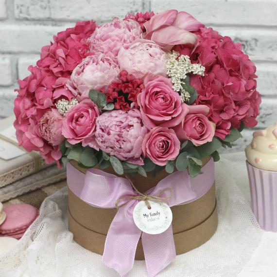 Цветы в коробке М №0596