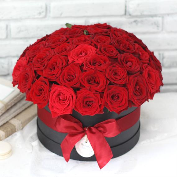 Цветы в коробке L №0597