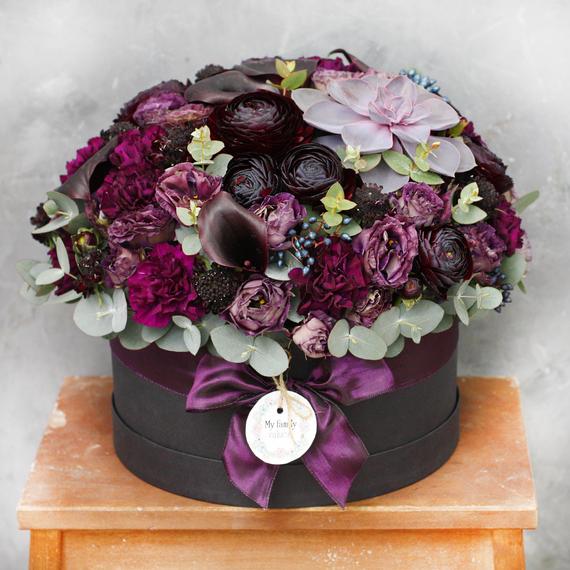 Цветы в коробке L №0645