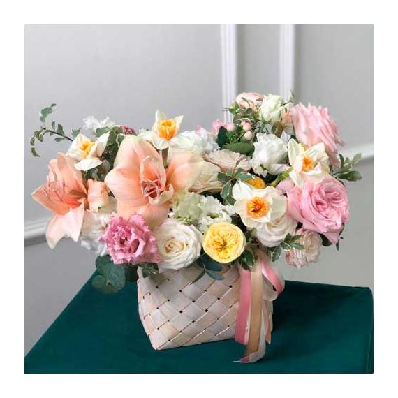 Цветы в корзине №2016