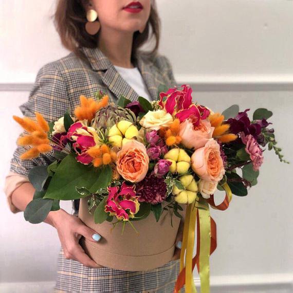 Цветы в коробке М №0610