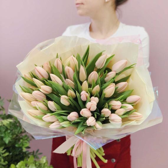 Тюльпаны светло-розовые №0955