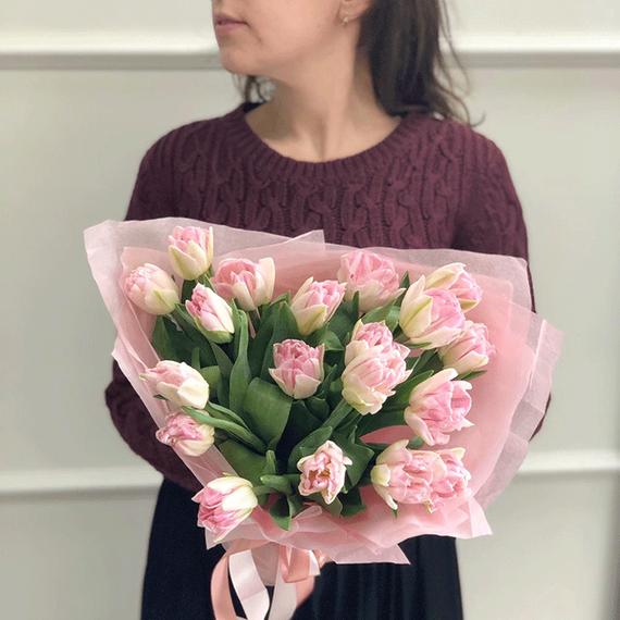 Тюльпаны пионовидные нежно-розовые №0981