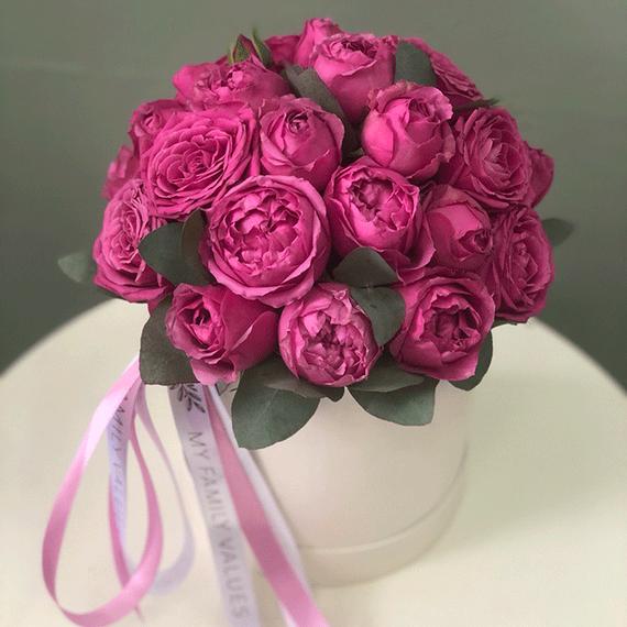 Розы Мисти Баблс в коробке S №0956