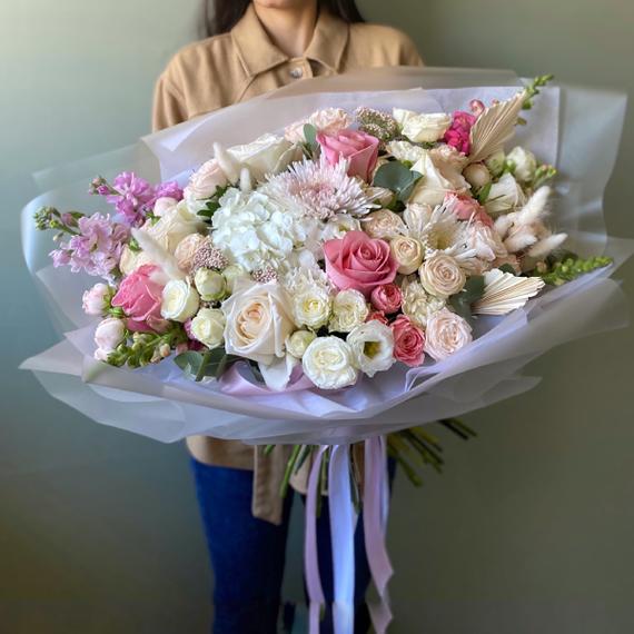 """Букет """"Сливочное розе"""" №0547"""