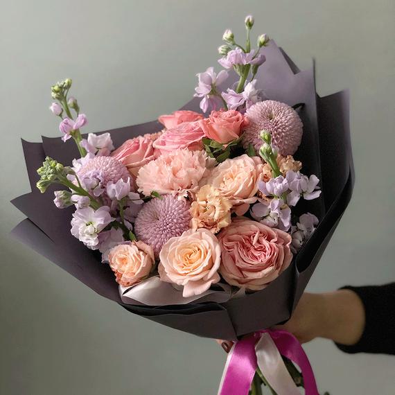 """Букет """"Розовый пудинг"""" №0601"""