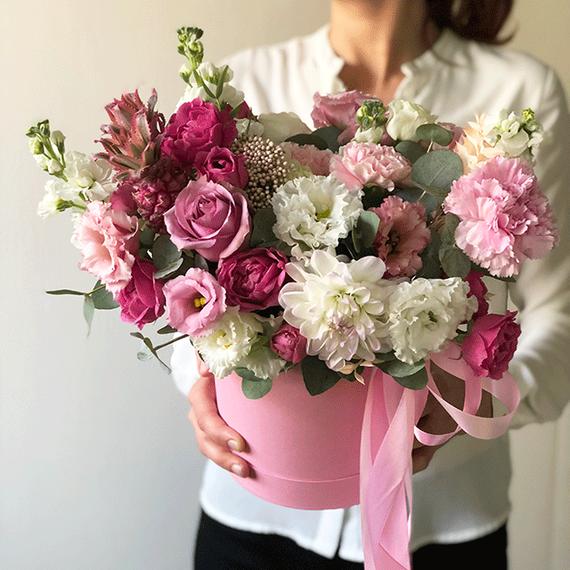 """Цветы в коробке S """"Тропики"""" №5002"""