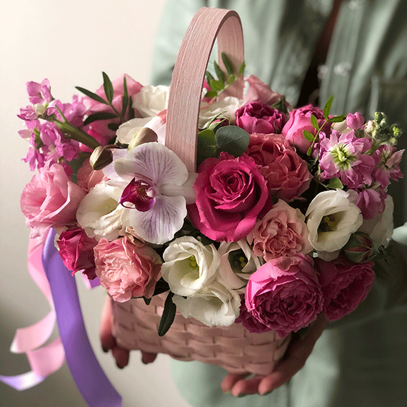 Цветы в корзине №0945