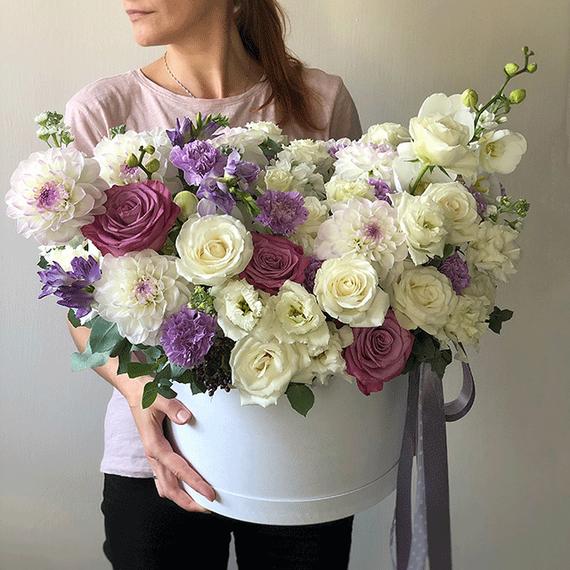 Цветы в коробке ХL №0350