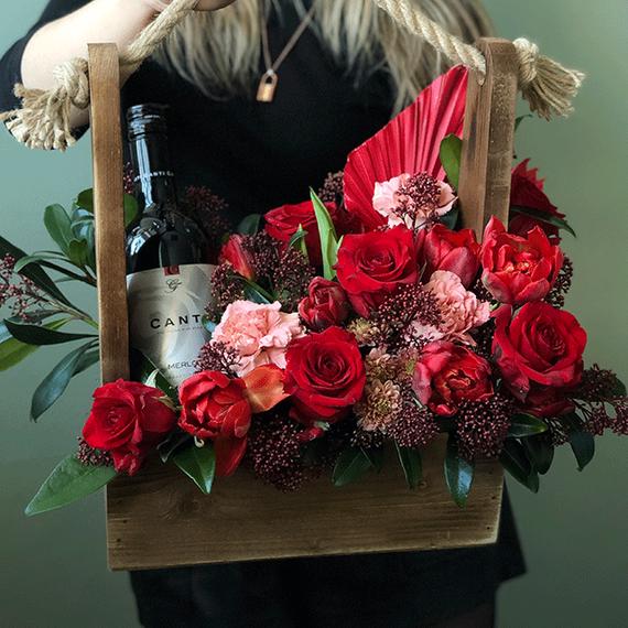 Цветы в ящике №0155